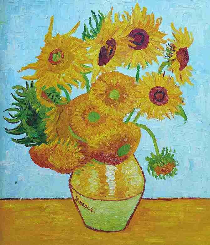 Van Gogh Sonnenblumen Keilrahmenbild Auf Leinwand Ebay